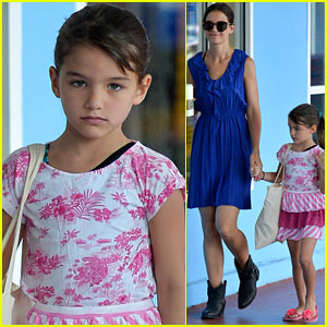 Katie Holmes & Suri: Good Morning, Chelsea Piers!