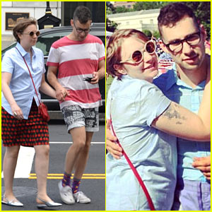 Lena Dunham & Jack Antonoff Hold Hands on Independence Day