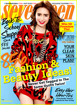 Lily Collins Covers 'Seventeen' Magazine September 2013