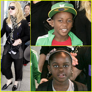 Madonna Lands in London with David & Mercy!