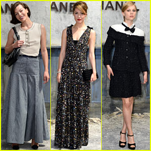 Milla Jovovich & Rose Byrne: Chanel Paris Fashion Week Show!