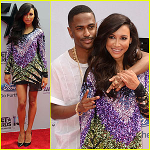 Naya Rivera & Big Sean - BET Awards 2013 Red Carpet