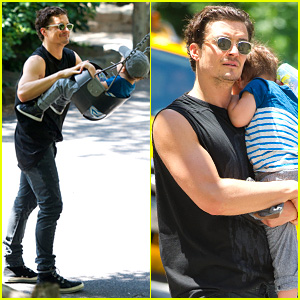 Orlando Bloom: Central Park Playtime with Flynn!