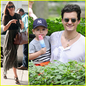 Orlando Bloom Takes Flynn to Central Park, Miranda Kerr Hits JFK