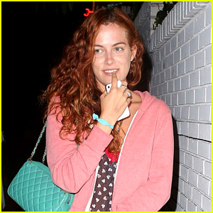 Riley Keough Leaves Chateau Marmont with a Smi