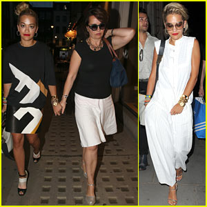 Rita Ora: Family Dinner After Barcelona Trip