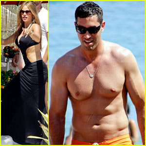 Sofia Vergara Relaxes Oceanside with Shirtless Nick Loeb!