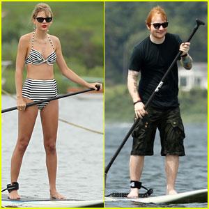 Taylor Swift: Bikini Paddleboarding with Ed Sheeran!
