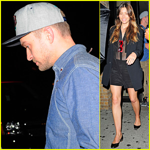 Justin Timberlake & Jessica Biel: Soho Dinner After VMAs 2013!