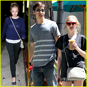 Amanda Seyfried & Justin Long Hang Out with Finn the Dog!