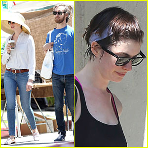 Anne Hathaway & Adam Shulman: Sunday Farmer's Market Run!