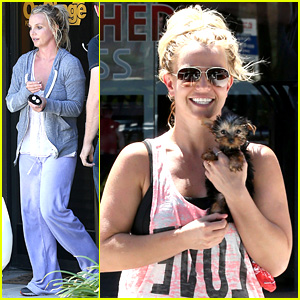 Britney Spears is Beaming with New Puppy After Rehearsals