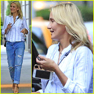 Cameron Diaz Uses Fist Ring iPhone Case in New York City