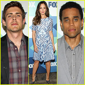Chris Lowell & Minka Kelly: 'Almost Human' & 'Enlisted' Party & TCA Panels!