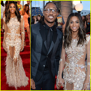 Ciara - MTV VMAs 2013 Red Carpet with Future!