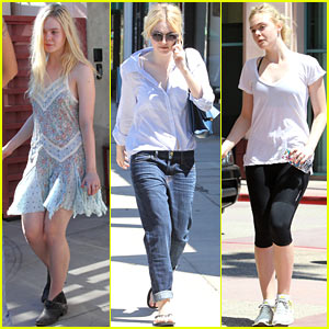 Dakota & Elle Fanning: Separate Studio City Outings!