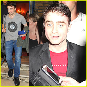 Daniel Radcliffe Supports Song One At 'Cripple of Inishmaan' Show!