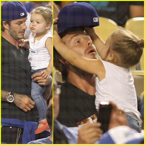 David Beckham & Harper: Daddy-Daughter Baseball Game!