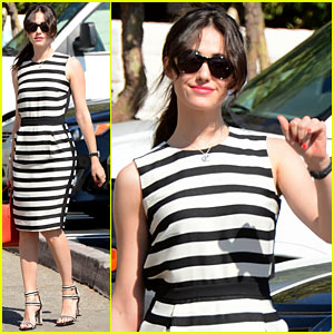 Emmy Rossum Shows Her Stripes in Brentwood