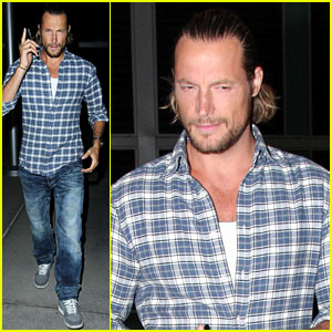 Gabriel Aubry Catches an Evening Movie at ArcLight!