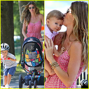 Gisele Bundchen: Park Day with Benjamin & Vivian!