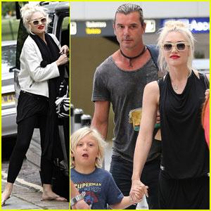 Gwen Stefani & Gavin Rossdale: Back in London After Paris Vacation