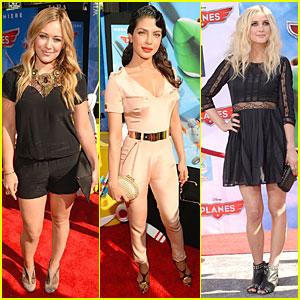 Hilary Duff & Priyanka Chopra: 'Planes' Hollywood Premiere!