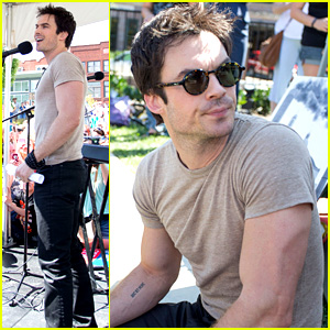 Ian Somerhalder Rallies with Sierra Club in North Carolina