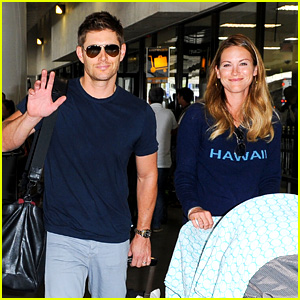 Jensen Ackles Touches Down at LAX with Danneel & Justice!