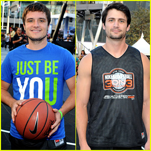 Josh Hutcherson & James Lafferty: SBNN Basketball Game!