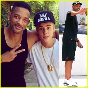 Justin Bieber Hangs with His 'Uncle' Will Smith!