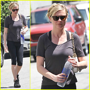 Kirsten Dunst Continues Water Workout Routine!