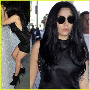 Lady Gaga Climbs a Wall to Greet Fans
