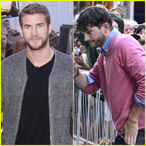 Liam Hemsworth & Ashton Kutcher: 'GMA' Guys!