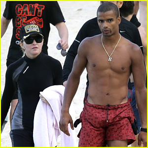 Madonna & Shirtless Brahim Zaibat Vacation with Her Kids