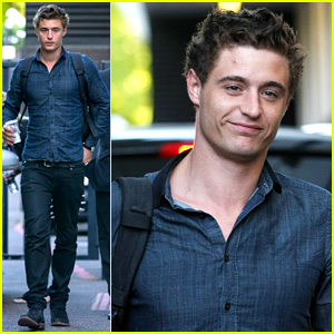 Max Irons Promotes 'White Queen' at ITV Studios