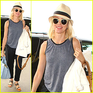 Naomi Watts Flys Out of L.A. After Short Stay!