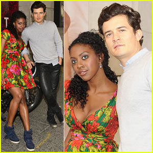 Orlando Bloom: 'Romeo & Juliet' Photo Call with Condola Rashad!