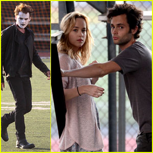 Penn Badgley: 'Cymbeline' Filming with Dakota Johnson