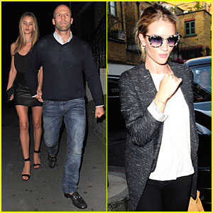 Rosie Huntington-Whiteley & Jason Statham: Dressed Up Pair!