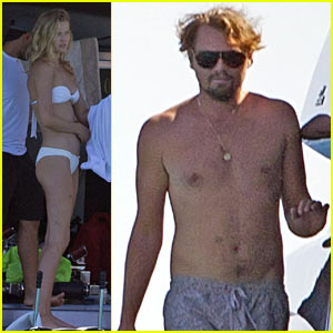 Shirtless Leonardo DiCaprio Yachts with Bikini-Clad Toni Garrn!