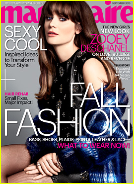 Zooey Deschanel Covers 'Marie Claire' September 2013