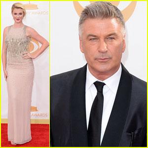 Alec & Ireland Baldwin - Emmys 2013 Red Carpet