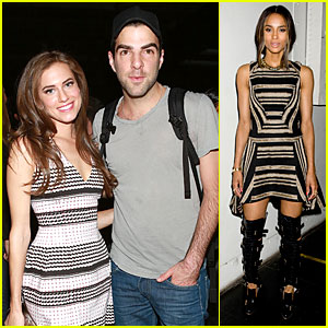 Allison Williams & Zachary Quinto: Prabal Gurung Fashion Show!