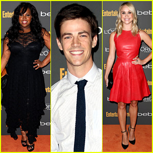 Amber Riley & Grant Gustin: EW's Pre-Emmy Party 2013!