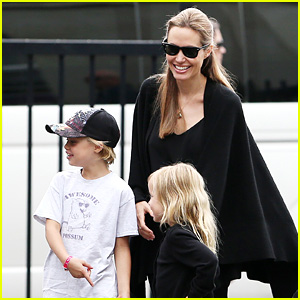 Angelina Jolie: Arts & Crafts Afternoon with Shiloh & Vivienne!
