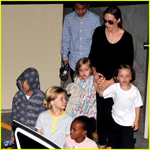 Angelina Jolie Goes Bowling in Australia with All Six Kids!