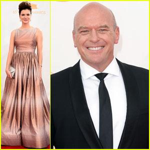 Dean Norris & Betsy Brandt - Emmys 2013 Red Carpet