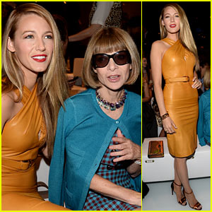Blake Lively: Gucci Milan Fashion Show with Anna Wintour!