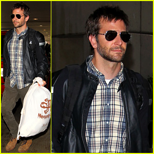 Bradley Cooper Lands Back Home After Press Tour in Spain